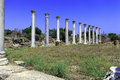 Ruins of Salamis near Famagusta Stock Photos