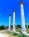 Ruins of Salamis near Famagusta Royalty Free Stock Photo