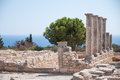 Ruins of the sanctuary of apollo hylates near limassol city cyprus Stock Photo