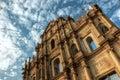 Ruins of Sao Paolo Macau Royalty Free Stock Photo