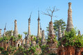 Ruins Shwe Indein Myanmar Royalty Free Stock Photo