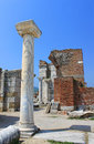 Ruins of st. Johns Basilica at Ayasuluk Hill Royalty Free Stock Images