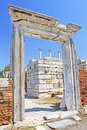 The ruins of the st johns basilica selcuk ephesus turkey constructed in th century ad by emperor justinian on ayasuluk hill Royalty Free Stock Photography