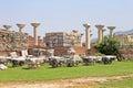 Ruins of st johns basilica selcuk turkey at ayasuluk hill ephesus Royalty Free Stock Images