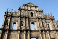 Ruins of st paul cathedral saint s in macau Royalty Free Stock Images