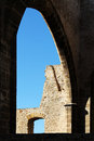 Ruins, stone walls, middle ages, palermo Royalty Free Stock Photo