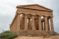 The ruins of temple of concordia valey temples agrigento sicily italy Stock Photo