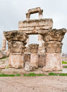 Ruins of Temple of Hercules in Amman Royalty Free Stock Photos