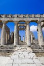 Ruins of temple on island aegina greece archaeology background Royalty Free Stock Photos