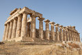 Ruins of the temple of selinunte travel and tourism in sicily italy Royalty Free Stock Image