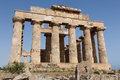 Ruins of the temple of selinunte travel and tourism in sicily italy Royalty Free Stock Images