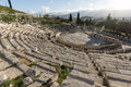 Ruins of the Theatre of Dionysus in Acropolis of Athens, Greece Royalty Free Stock Photo