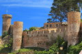 Ruins in Tossa de Mar Stock Photo