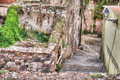 Ruins in town of an old building a small village shot bosa italy Royalty Free Stock Photo