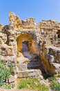 Ruins in town salamis northern cyprus Royalty Free Stock Images