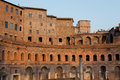 Ruins of trajan s market mercati di traiano in rome during sun part the sunset Stock Images