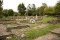 Ruins of tsarevets stronghold in the city veliko tarnovo in bulgaria in the autumn season Stock Photos