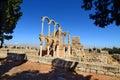 Ruins of the Umayyad city of Anjar Royalty Free Stock Photo