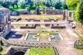Ruins at villa adriana hadrian s villa tivoli italy roman Royalty Free Stock Photo