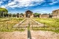 Ruins at villa adriana hadrian s villa tivoli italy roman Royalty Free Stock Images