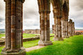 Ruins of whitby abbey famous in england Royalty Free Stock Image