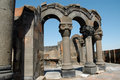 The ruins of Zvarnots cathedral, Armenia Royalty Free Stock Photography