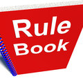 Rule Book Policy Guide Manual Royalty Free Stock Photos
