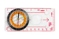 A ruler with compass isolated on a white background Royalty Free Stock Photo