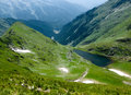 Rumänien-Gebirgssee Stockbild