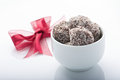 Rum balls dessert for festive celebration Stock Photo