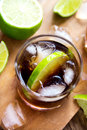 Rum and cola Cuba Libre drink Royalty Free Stock Photo