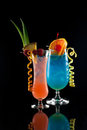Rum Runner and Blue Lagoon Royalty Free Stock Photo
