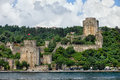 Rumeli hisari by the bosphorus strait in istanbul castle of europe built turkey Royalty Free Stock Photography