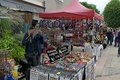Rummage sale in town great annual sable sur sarthe france september Royalty Free Stock Images