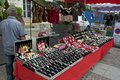 Rummage sale in town great annual sable sur sarthe france september Stock Photo