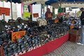 Rummage sale in town great annual sable sur sarthe france september Stock Photos