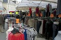Rummage sale in town great annual sable sur sarthe france september Royalty Free Stock Photo