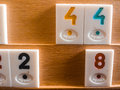 Rummy cards on a table Stock Photography