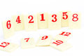 Rummy pieces photo of on white background Stock Photography