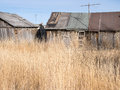 Run down outbuildings in rural nevada dilapidated ranch buildings Royalty Free Stock Image