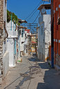 Rundown houses in turkish village very pld Stock Image