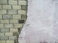 Rundown Maldivian brick wall Royalty Free Stock Photo
