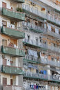 Rundown residential building image taken of a block of apartments in naples italy Stock Images