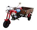 Rundown trike rustic in white back Stock Photo