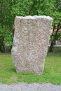 Rune stone, sweden Royalty Free Stock Photo