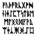 Runes alphabet Royalty Free Stock Photography