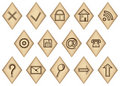 Runic icons Stock Photo