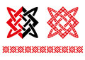 Runic star red and black on white background Royalty Free Stock Photography