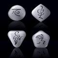 Runic Stones Stock Image