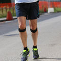 Runner during the race with the bandage Royalty Free Stock Photo